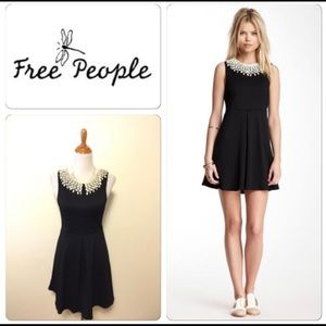 Free People Black Waffle Knit Sleeveless Dress